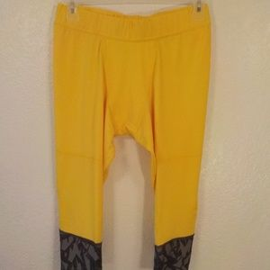 Adidas EQT ESS Tight Yellow Gray Mens XL